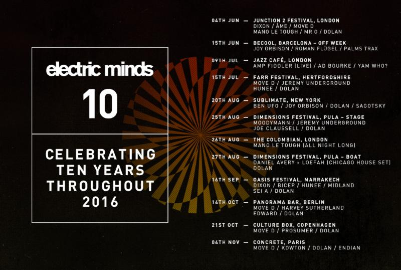 Electric Minds 10 Announces Full 2016 Season