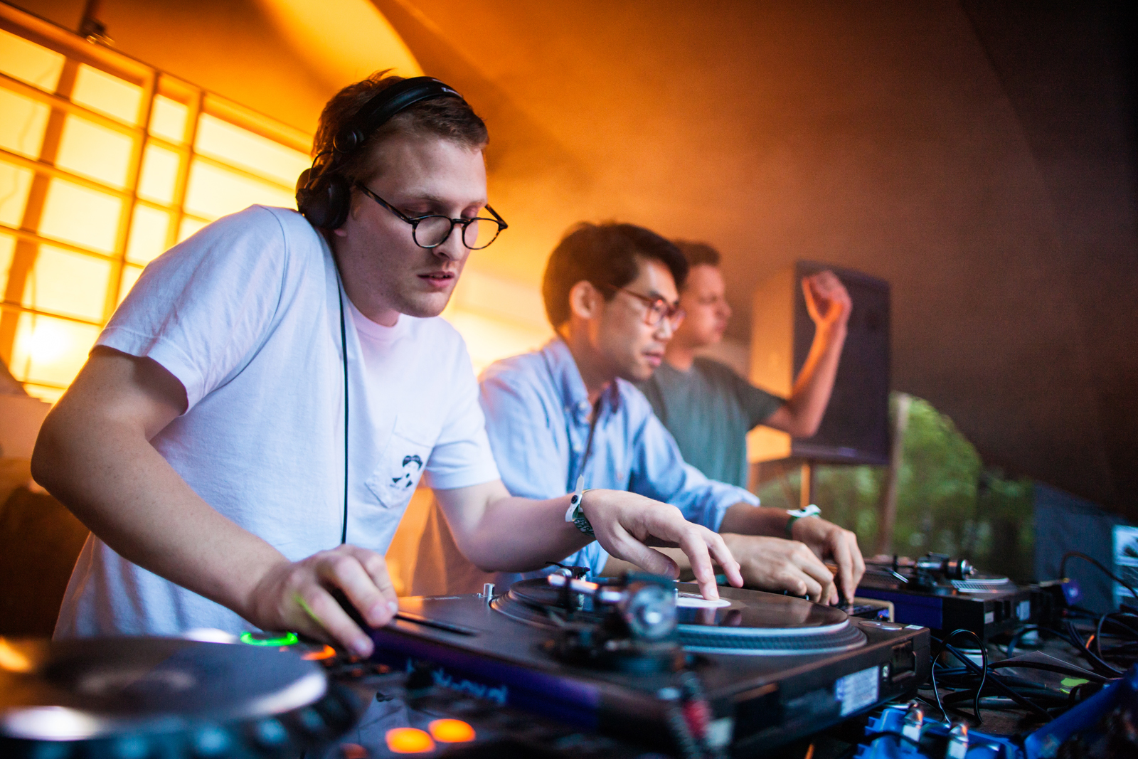 Floating Points on the Selector Stage // Photo: Bart Heemskerk