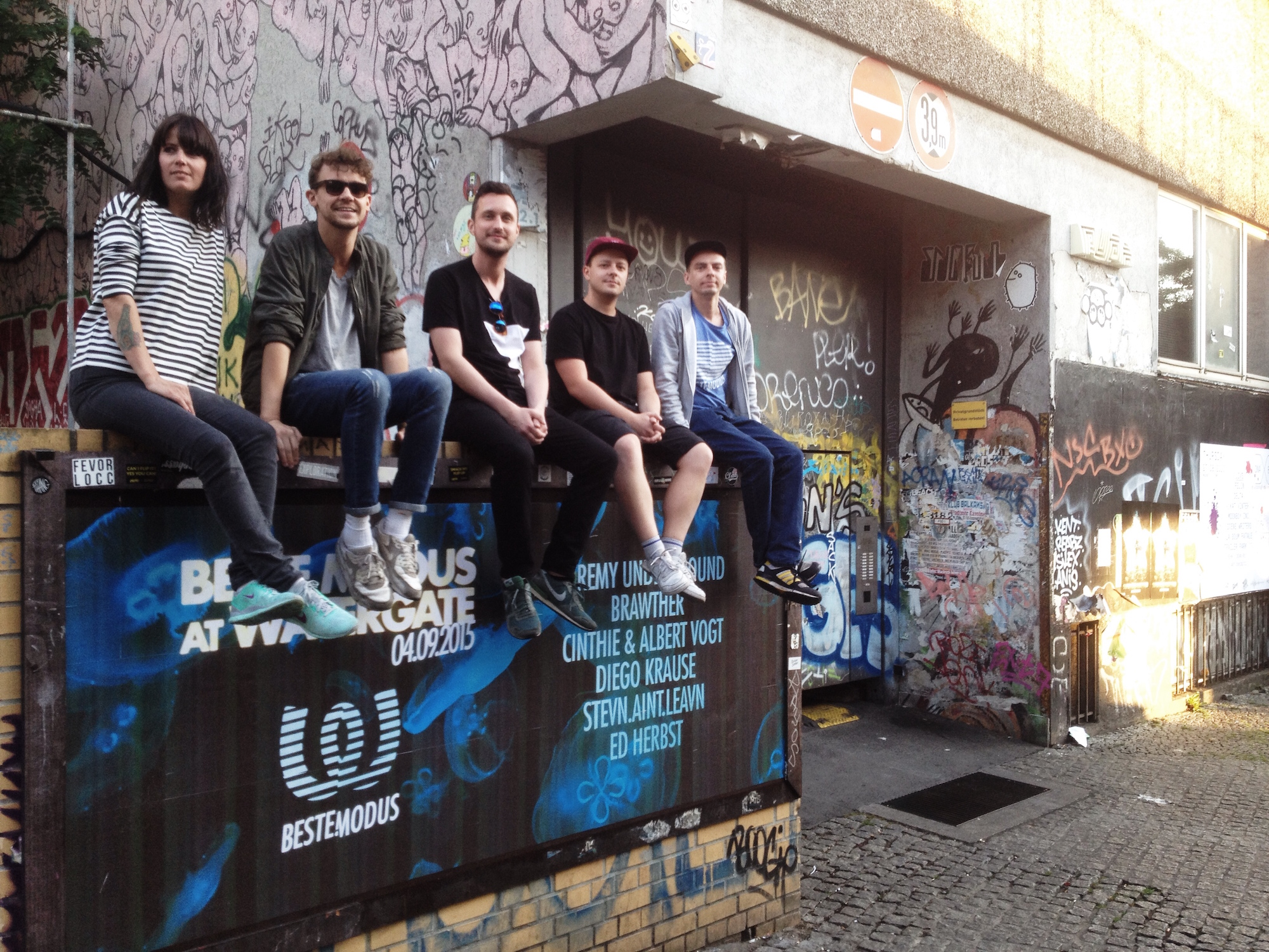 Cinthie and the Beste Modus crew in Berlin.
