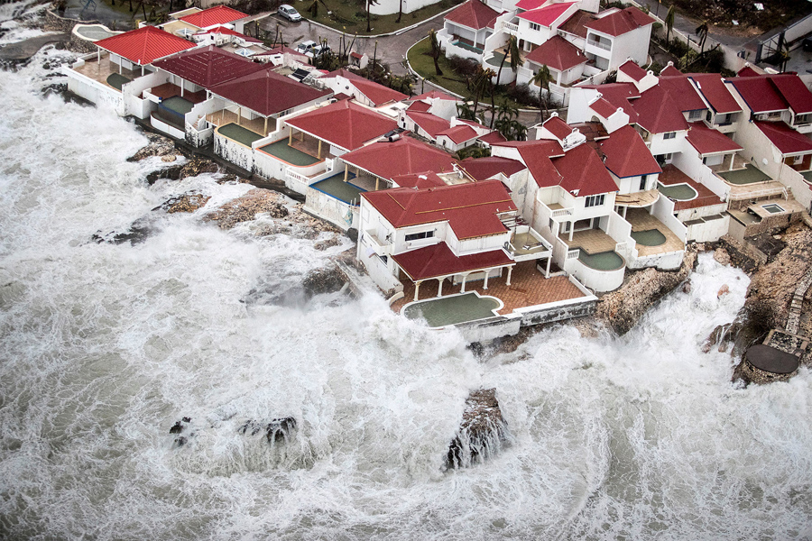 Sint Maarten, the Dutch part of Saint Martin Island, on September 6, 2017 by Netherlands Ministry of Defence / Reuters