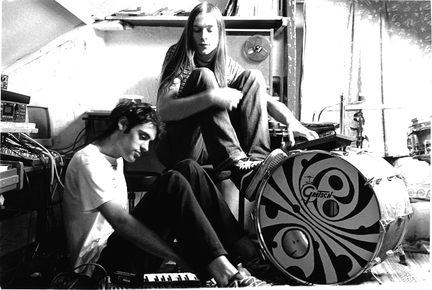 Smee and his brother Leo in the attic recording Kactus material. Photo: Beatrice Landais
