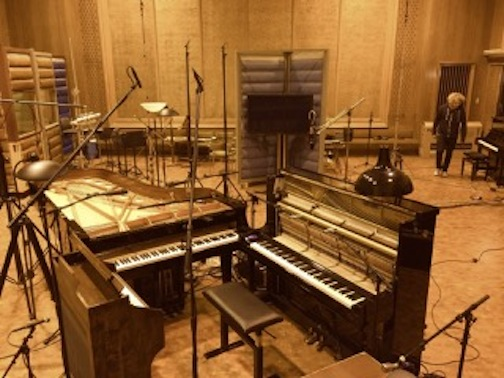 Nils Frahm recording at Studio P4. Photo: courtesy of Erased Tapes Records