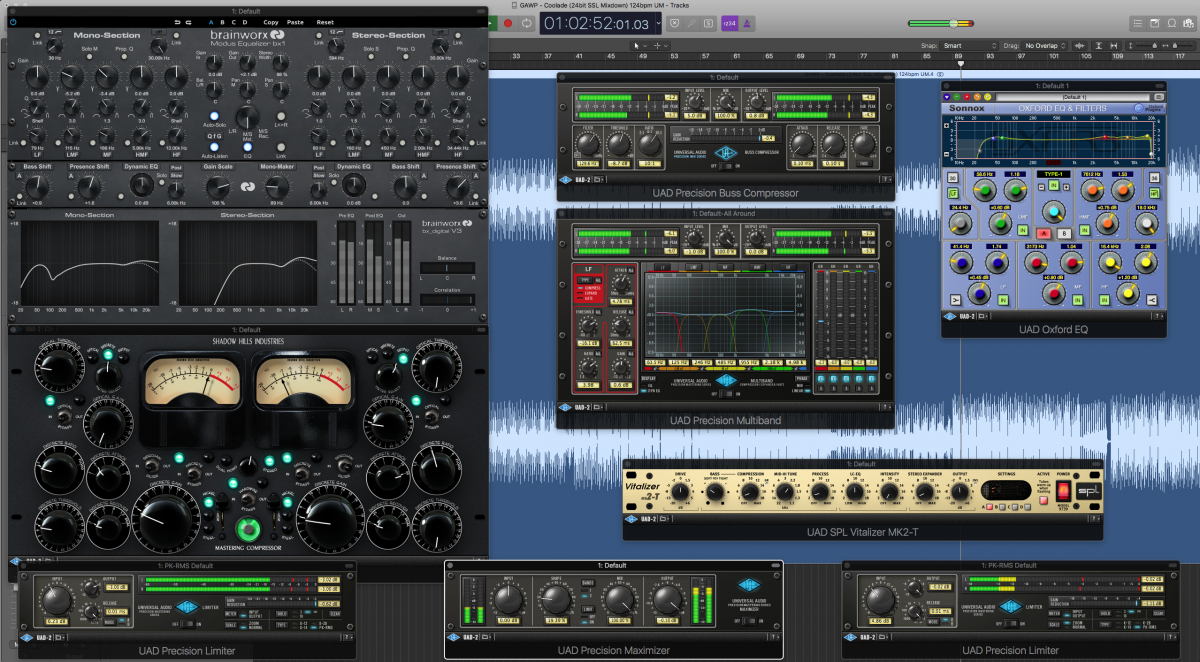 Selection of clinical and colorful compression and EQ we use in the mastering chain.
