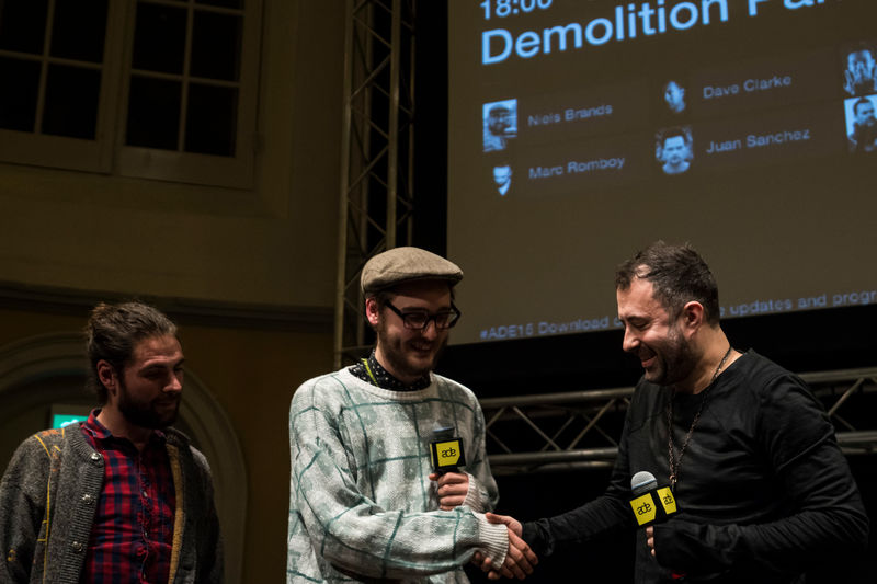 Dave Clarke with this year's Demolition Panel winnersPhoto: Henri Blommers